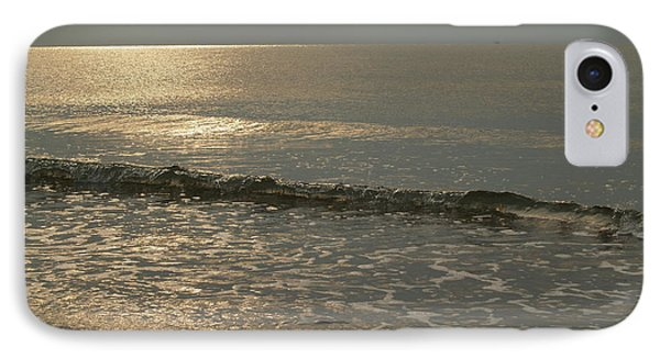 Single Breaker At Dawn On Hunting Island  Phone Case by Anna Lisa Yoder