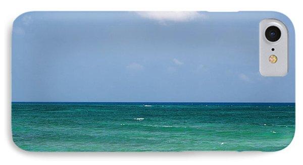 Single Cloud Over The Caribbean IPhone Case
