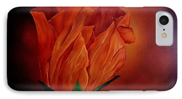 Single Rose IPhone Case by Valorie Cross
