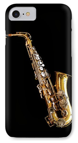 Single Saxophone Against Black IPhone 7 Case