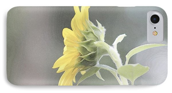 Single Sunflower IPhone Case by Leone Lund