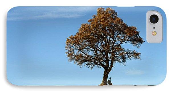 Single Tree With Wayside Cross IPhone Case