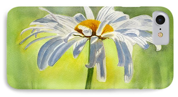 Daisy iPhone 7 Case - Single White Daisy Blossom by Sharon Freeman