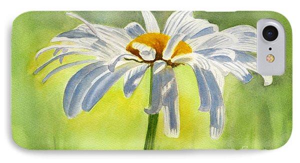 Single White Daisy Blossom Phone Case by Sharon Freeman