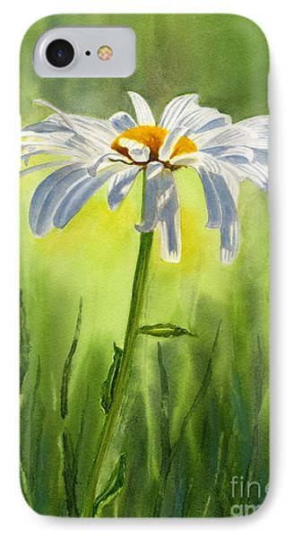 Single White Daisy  Phone Case by Sharon Freeman