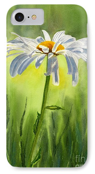 Single White Daisy  IPhone Case by Sharon Freeman
