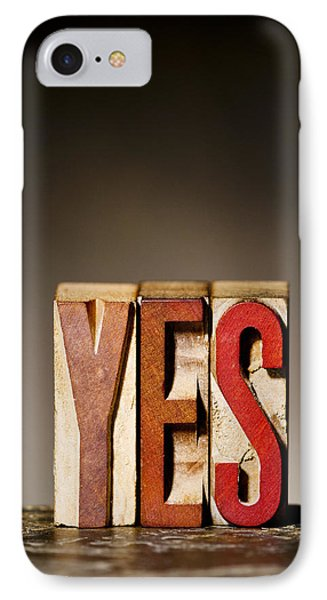 Single Word Yes  IPhone Case
