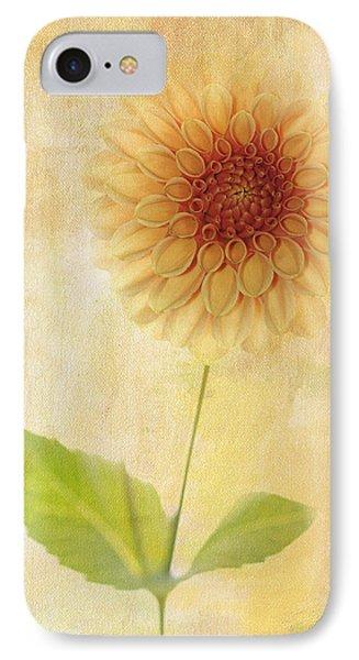 Single Yellow Dahlia IPhone Case by Rebecca Cozart