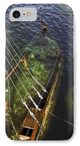 Sinking Sailboat Phone Case by Sally Weigand