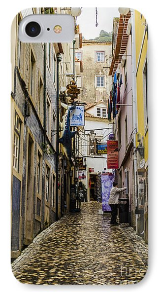 Sintra Street Phone Case by Deborah Smolinske