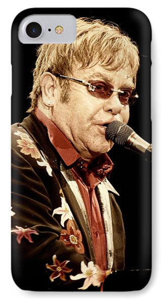 Sir Elton John IPhone Case by Devina Browning