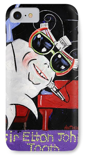 Sir Elton John Tooth  IPhone Case by Anthony Falbo