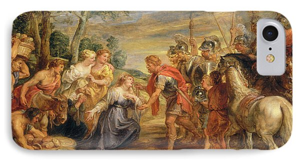 Sir Peter Paul Rubens, The Meeting Of David And Abigail IPhone Case by Quint Lox