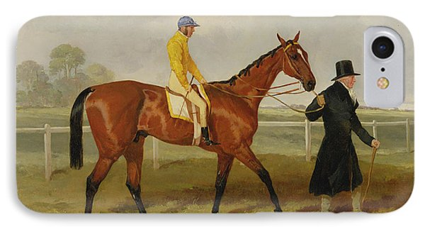Sir Tatton Sykes Leading In The Horse Sir Tatton Sykes With William Scott Up IPhone Case