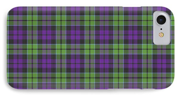 IPhone Case featuring the digital art Sir Walter Scott Purple And Green by Gregory Scott