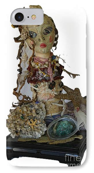IPhone Case featuring the sculpture Siren by Avonelle Kelsey