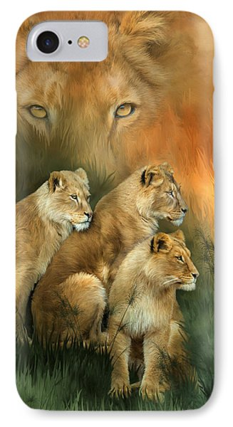Sisterhood Of The Lions Phone Case by Carol Cavalaris