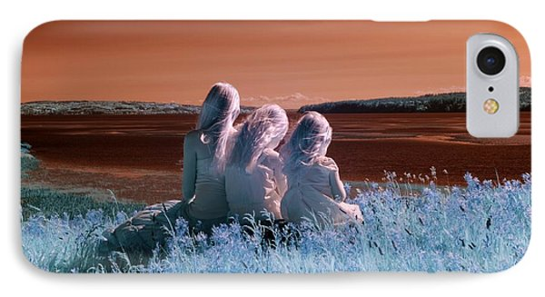 Sisters Dreaming IPhone Case by Rebecca Parker