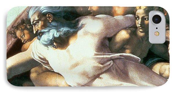 Sistine Chapel Ceiling Creation Of Adam IPhone Case by Michelangelo Buonarroti