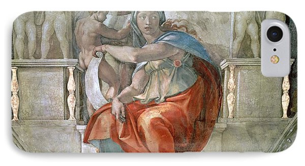 Sistine Chapel Ceiling Delphic Sibyl Fresco IPhone Case
