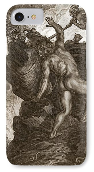 Sisyphus Pushing His Stone IPhone Case