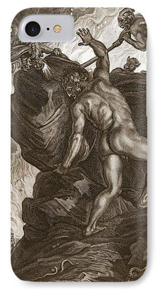 Punishment iPhone 7 Case - Sisyphus Pushing His Stone by Bernard Picart