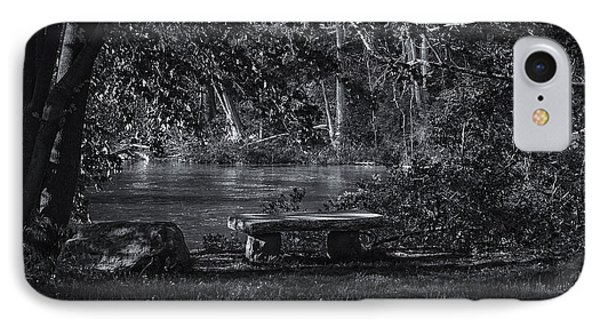 IPhone Case featuring the photograph Sit And Ponder by Mark Myhaver