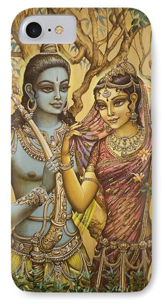 Sita And Ram Phone Case by Vrindavan Das