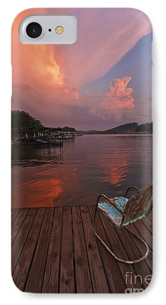 Sittin' On The Dock IPhone Case by Dennis Hedberg