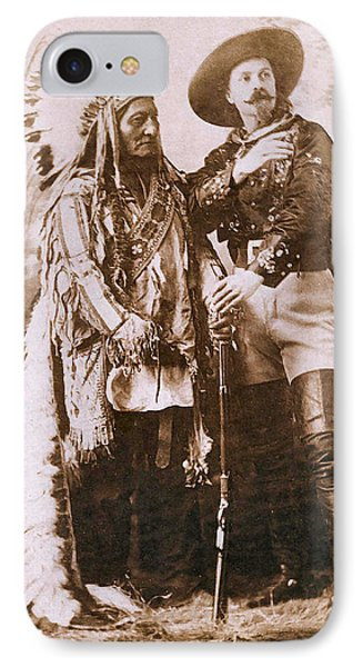 Sitting Bull And Buffalo Bill Phone Case by Unknown