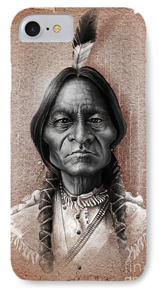 Sitting Bull IPhone Case by Andre Koekemoer