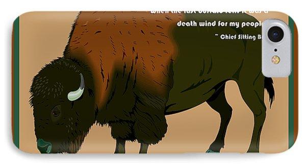 Sitting Bull Buffalo Phone Case by Digital Creation