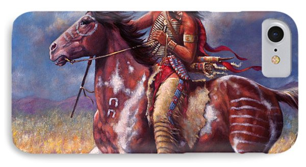 Sitting Bull IPhone Case by Harvie Brown