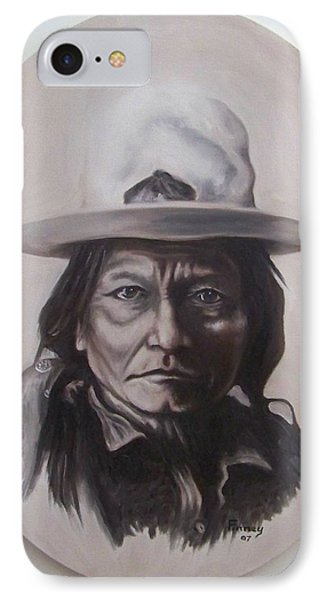 IPhone Case featuring the painting Sitting Bull by Michael  TMAD Finney