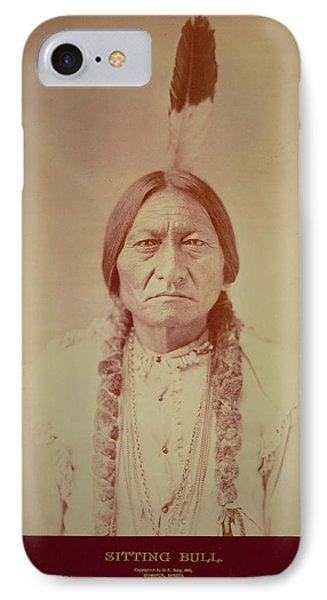 Sitting Bull, Sioux Chief, C.1885 Bw Photo IPhone Case by David Frances Barry