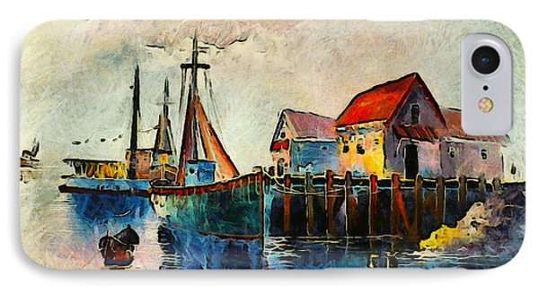 Sitting By The Dock In The Bay IPhone Case by Unknown