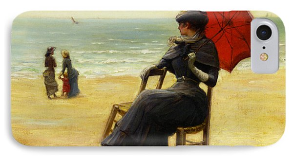 Sitting By The Sea Phone Case by Edouard Bisson