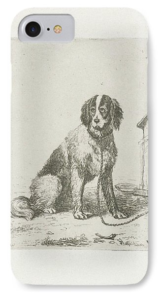 Sitting Dog Chained To A Doghouse, Christiaan Wilhelmus IPhone Case