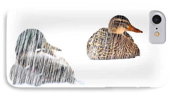 Sitting Ducks In A Blizzard Phone Case by Bob Orsillo