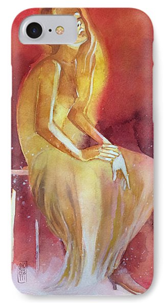 Sitting Girl Phone Case by Alessandro Andreuccetti