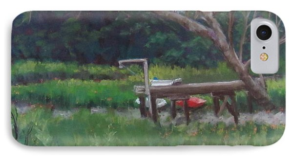 Sitting On The Dock Phone Case by Denise  Cox