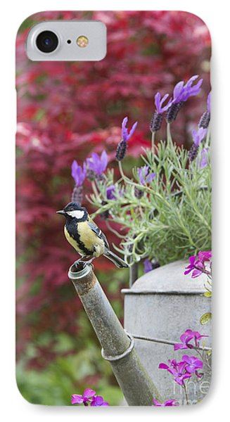 Titmouse iPhone 7 Case - Sitting Pretty by Tim Gainey
