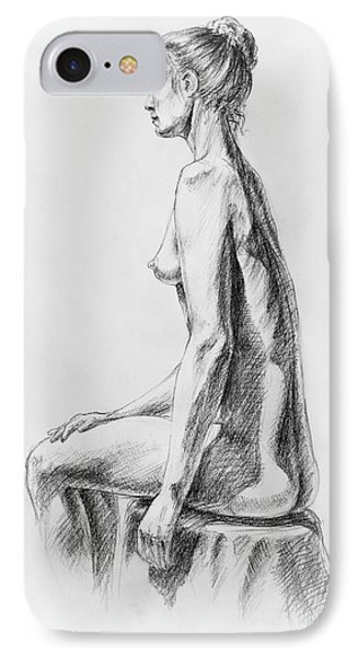 Sitting Woman Study IPhone Case