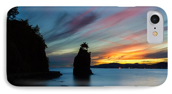 Siwash Rock At Sunset In Vancouver B.c IPhone Case by Pierre Leclerc Photography