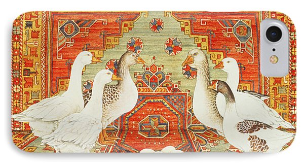 Six Geese A-laying IPhone Case by Ditz