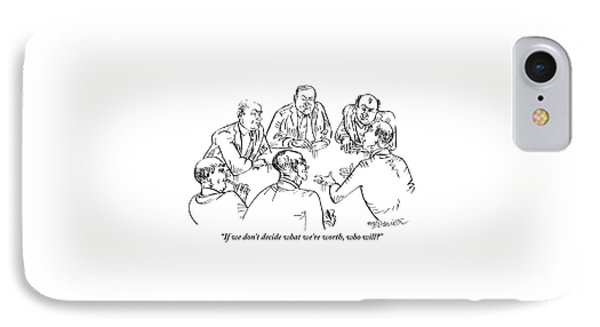 Six Men Sit At A Table Together IPhone Case by William Hamilton