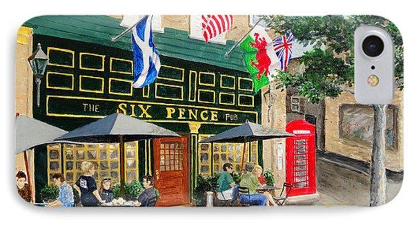 Six Pence Pub IPhone Case by Marilyn Zalatan