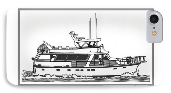 Sixtyfive Foot Defever Trawler Yacht Phone Case by Jack Pumphrey