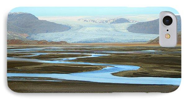 Skaftafell Glacier IPhone Case by Paula Guttilla