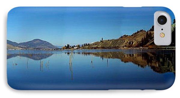 Skaha Lake Kayaking Panorama IPhone Case by Guy Hoffman